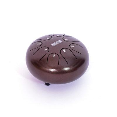 Lotus Drum, Mini Tongdrum, 8 tonen, Ø 15 cm, donkerbruin