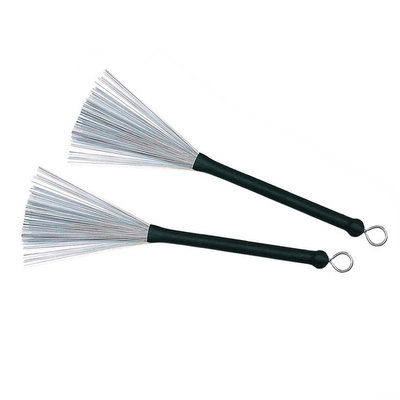 Stagg Brushes met rubber handgreep, Stagg (per paar)