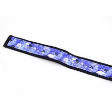 Djembé draagband lichtblauw, met blaadjes