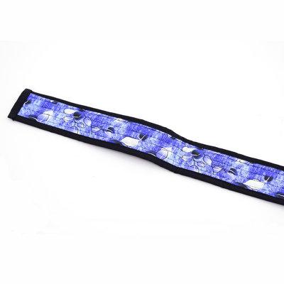 StigSlag Djembé draagband lichtblauw, met blaadjes