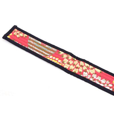Djembé draagband, rood bont gekleurd