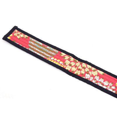 StigSlag Djembé draagband, rood bont gekleurd