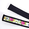 StigSlag Djembé draagband zwarte rand, midden wit met bloemen
