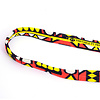 Djembé-draagband, smal, rood/geel/wit/zwart