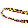 StigSlag Djembé-draagband, smal, rood/geel/wit/zwart