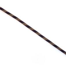 Stiggelbout Slagwerk Touw polyester 5 mm zwart-beige blokstructuur (p/m)