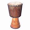 Djembé  Guinee, houtsnijwerk, Ø 32,5 cm, Bouba Percussion