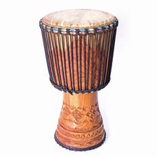 Bouba Percussion Djembé Guinee, houtsnijwerk, Ø 32,5 cm, Bouba Percussion