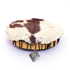 Sjamaandrum, geitenvel met haar, Ø 35,5 cm, Tisza