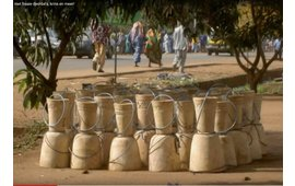 Container uit Afrika met fraaie djembés, krins en meer!