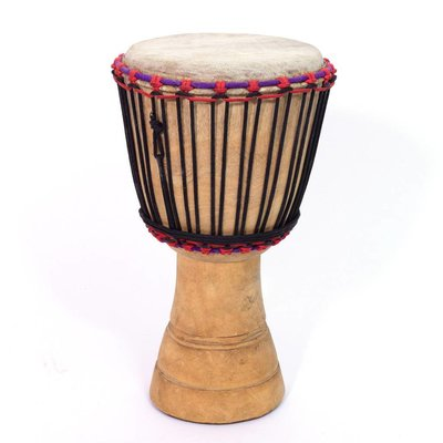 Djembé Ivoorkust, melinahout Ø 21 - 22 cm (B-keuze)