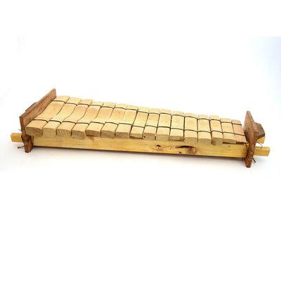 Amadinda, xylofoon uit Uganda, 15 tonen, pentatonisch