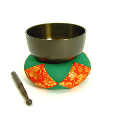 Klankschaal Dharma Ø 7 cm, Japan (incl. kussen+klopper)