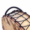 Sjamaandrum, aan 2 zijden vel, Ø 50 cm (incl. tas+kloppers)