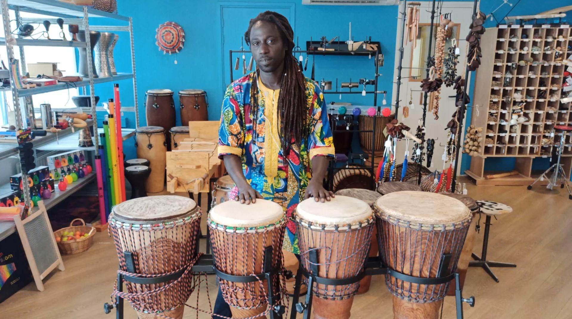 4 bougarabous uit Guinee op StigSlag standaards