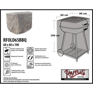 Beschermhoes voor vierkante barbecue, 60 x 60 H: 100 cm