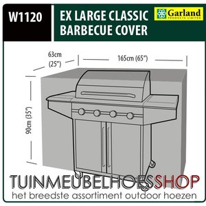 Outdoor kitchen BBQ hoes, 165 x 63 H: 90 cm