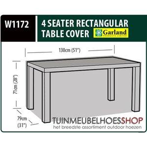 Rechthoekige tafelhoes, 130 x 79 H: 71 cm