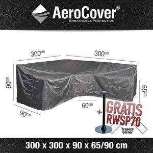 Hoes voor hoge hoekbank, 300 x 300 H: 90 / 65 cm