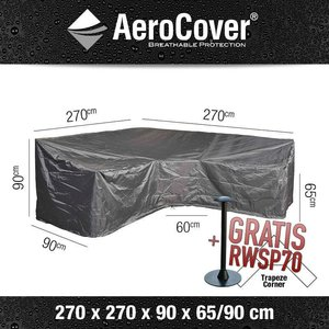 Hoes voor hoge loungesofa, 270 x 270 H: 90 / 65 cm