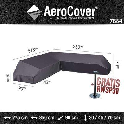 AeroCover Asymmetrische platformbank hoes 350 x 275 x 90 H: 30/45/70 cm