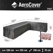 AeroCover Hoes voor loungebank met chaise longue 330 x 255 x 100 H: 70 cm