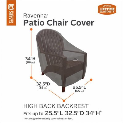 Ravenna, Classic Accessories Hoes voor Adirondack of Bear Chair  83 x 65 cm H: 86 cm
