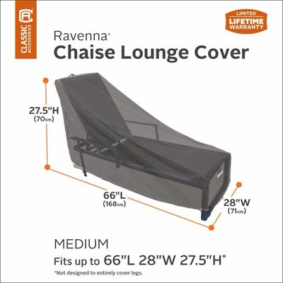 Ravenna, Classic Accessories Hoes voor Lounger, Ligbed, Chaise Lounge, Chaise  Longue, Zonnebed, 168 cm