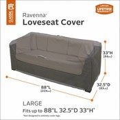 Ravenna, Classic Accessories Hoes voor Lounge bank, Wicker bench cover 224 x 83  cm Hoog 84 cm