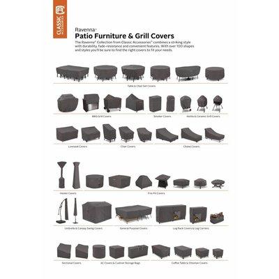 Ravenna, Classic Accessories Hoes voor tuinset, tuinmeubel hoes voor grote buiten tafel met 6 tuinstoelen,  274 x 208 H: 58 cm