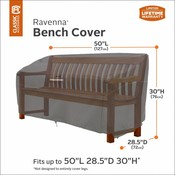 Ravenna, Classic Accessories Hoes voor kleine tuin bank of Lounge bench 127 x 72 cm H: 76 cm