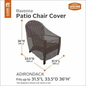 Ravenna, Classic Accessories Hoes voor Lounge,  Adirondack and Bear Chair  85 x 80 cm, hoog 91 cm