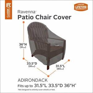 Hoes adirondack stoel, 85 x 80 H: 91 cm