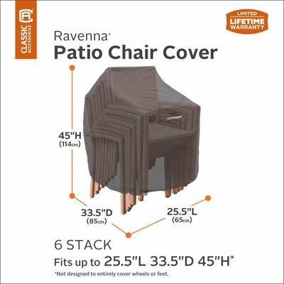 Ravenna, Classic Accessories Hoes voor stapelstoelen 85 x 65 H: 114 cm