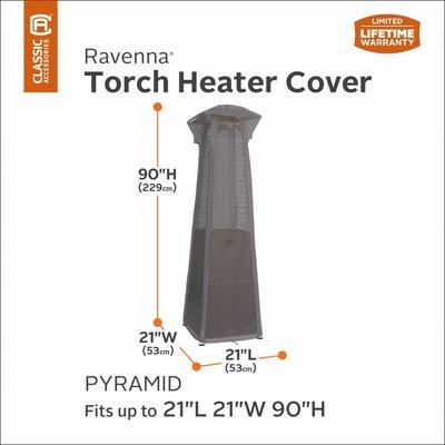 Ravenna, Classic Accessories Hoes voor Terras Heater, Gas Brander, Terras Verwarmer op gas, Lounge Torch Heater Cover,  229 cm hoog, 53 x 53 cm.