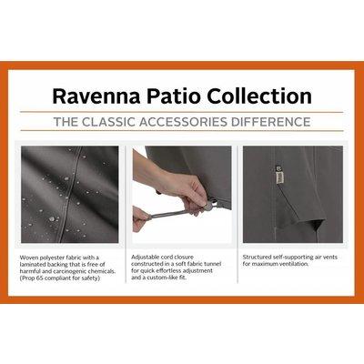 Ravenna, Classic Accessories Hoes voor Big Green Egg Large ingebouwd in een tafel, 81 x 66 cm, hoog 61 cm. Ook geschikt voor Kamado Joe, Black Bastard en andere Keramische bbq grills.
