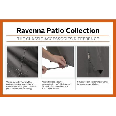 Ravenna, Classic Accessories Hoes voor hoek lounge element, lounge corner cover, 83 x 83 cm  cm, hoog 79 cm
