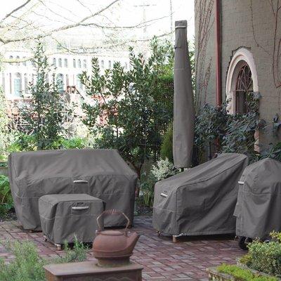 Ravenna, Classic Accessories Hoes voor vuurtafel, fire pit table cover, terras verwarmer beschermhoes, horeca gasverwarming afdek hoes, 142 x 97 cm Hoog 56 cm.