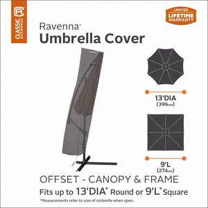 Ravenna parasol hoes, 250 cm, breed 67 / 84 cm