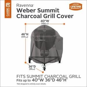 Hoes voor Weber Summit, 102 x 91 cm, hoog 117 cm.
