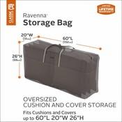 Ravenna, Classic Accessories Tas voor lounge kussens,  storage bag voor tuin kussens, opbergtas voor buitenkussens, 152 x 66 x 51 cm.