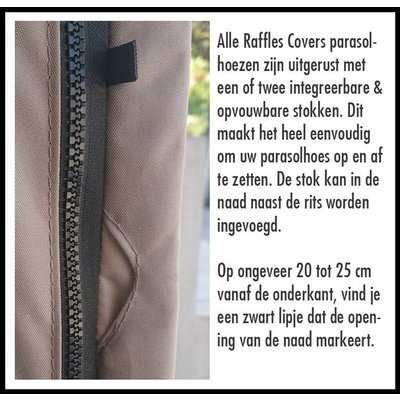 Raffles Covers Beschermhoes voor zweefparasol H: 260 cm