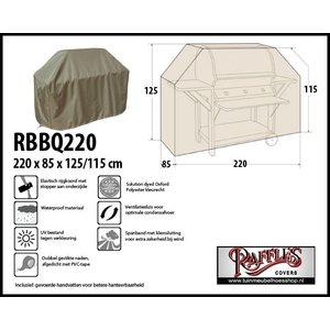 Beschermhoes voor buitenkeuken, 220 x 85 H: 125 / 115 cm