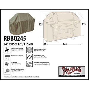 Beschermhoes voor grote buitenkeuken, 245 x 85 H: 125 / 115 cm