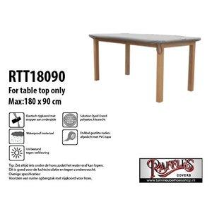 Hoes voor tafelblad tuintafel, 180 x 90 cm