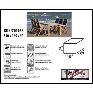 Afdekhoes voor tafel met stoelen, 310 x 165 H: 90 cm
