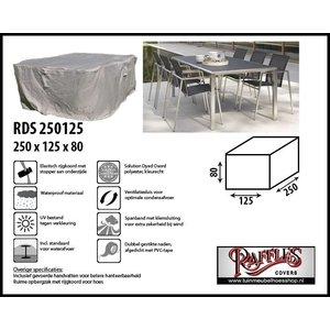 Beschermhoes tuinset: tafel + stoelen, 250 x 125 H: 80 cm
