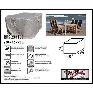 Hoes voor tuintafel en stoelen, 230 x 165 H: 90 cm