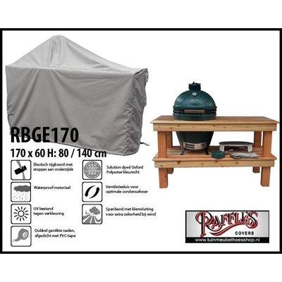 Raffles Covers Green Egg BBQ hoes 170 x 60 H: 80 / 140cm