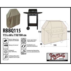 Afdekhoes voor BBQ, 115 x 60 H: 110 / 100cm